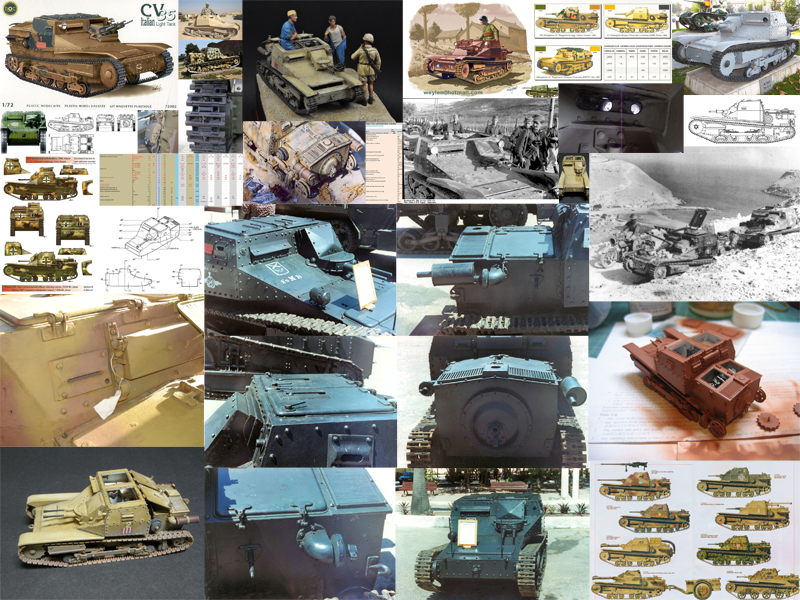 Reference image collage. This is a sampling of the roughly 140 reference images collected.