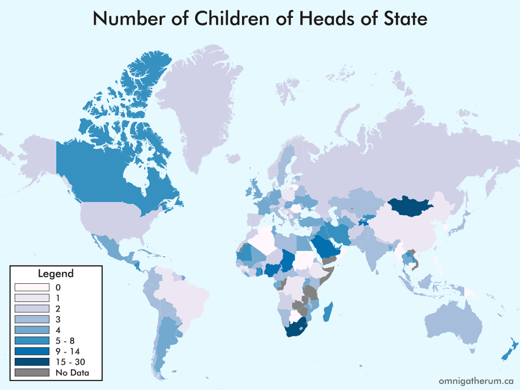 Number of Children of Heads of State