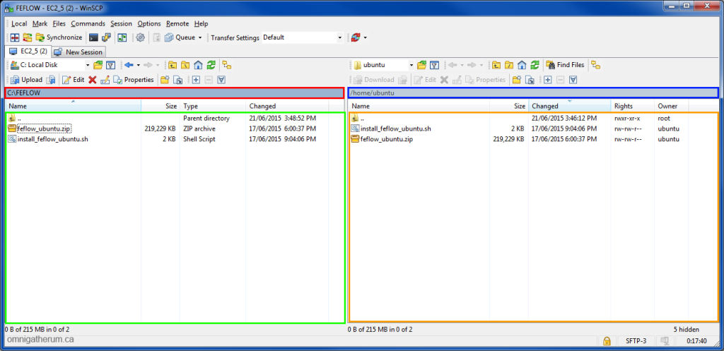 Figure 3.1 The WinSCP interface