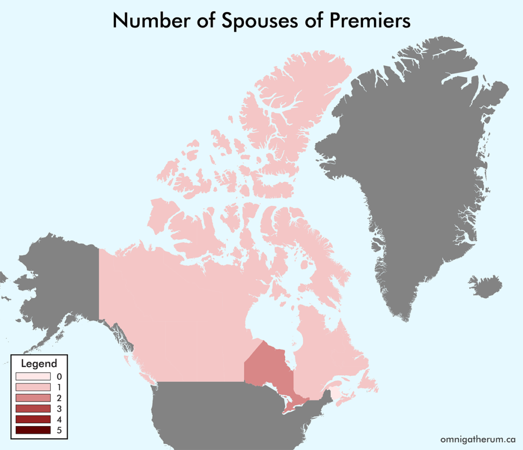Number of Spouses of Premiers