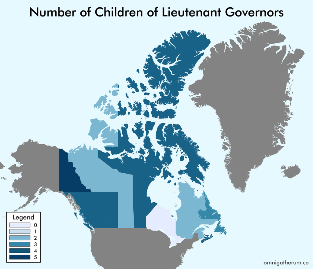 Number of Children of Lieutenant Governors