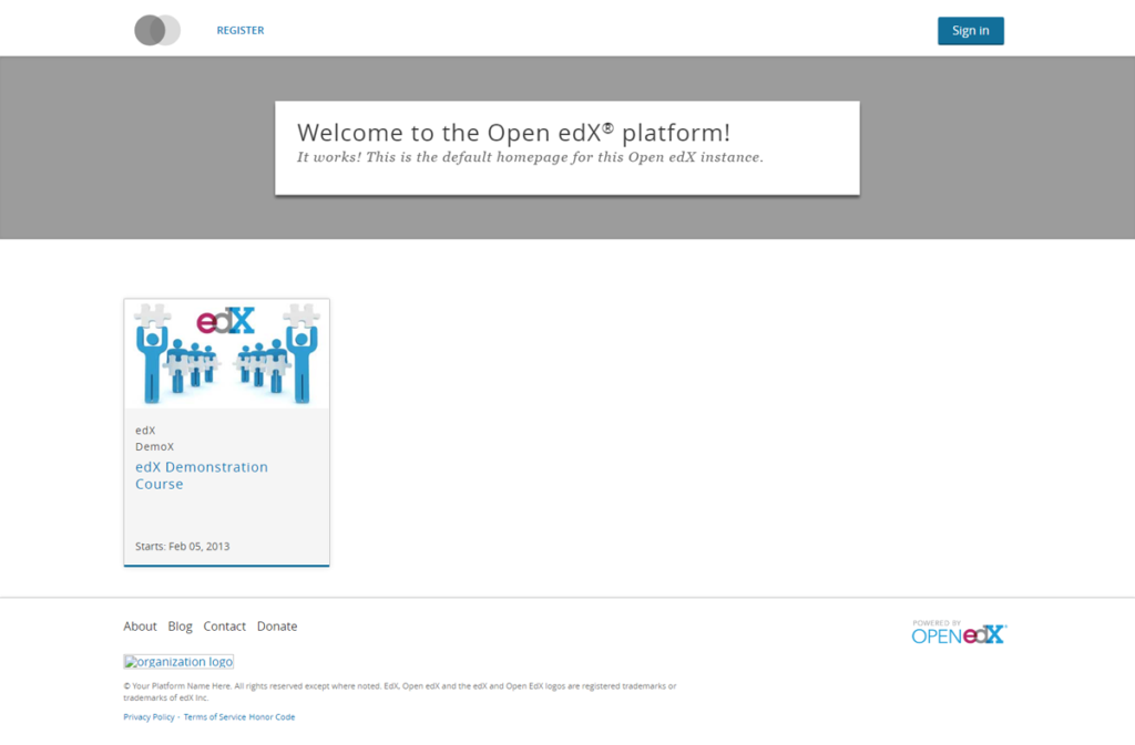 Figure 12: Open edX installed