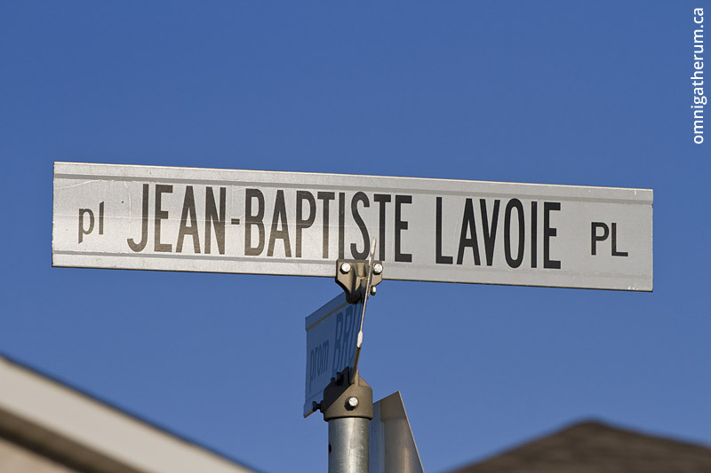 Jean-Baptiste Lavoie Place, the longest street name in Winnipeg.