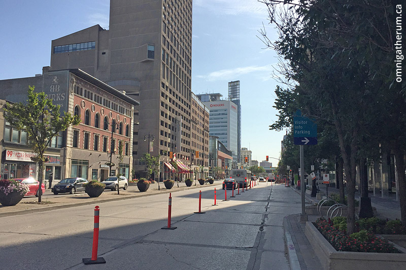 Portage Ave, the street with the highest total assessed value.